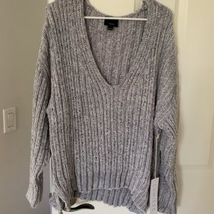 Brand new with tags- lumiere grey sweater